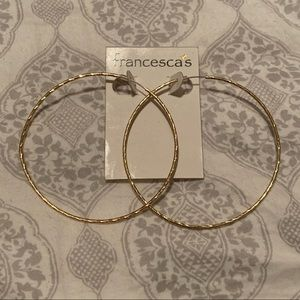 Francesca's Collections Large Gold Hoop Earrings